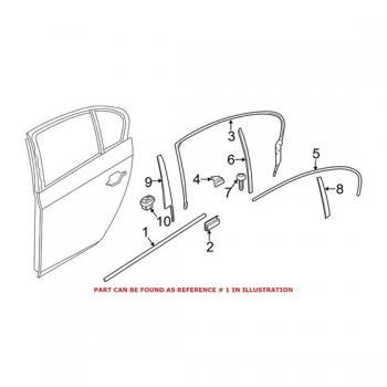 BMW Лайстна задна лява врата серия 5/F10