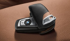 BMW Калъф за ключ- черно и кафяво